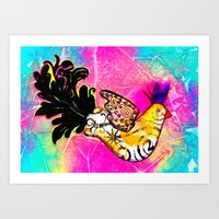 Fancy Bird Art Print