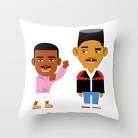 fresh prince Throw Pillows featuring The Fresh Prince (Version 2) by Evan Gaskin