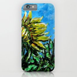 Death of A Sunflower iPhone Case