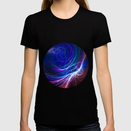 Pink and blue fractal T-shirt