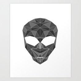 lowpolycyberalien Art Print