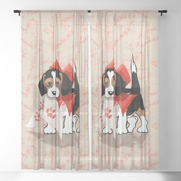 The Love Puppy — Love Letter Sheer Curtain