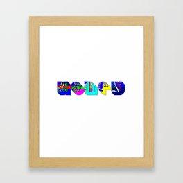 Honey tipography design Framed Art Print