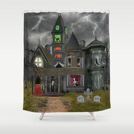 Halloween Haunted Mansion Shower Curtain