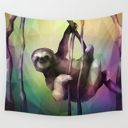 Sloth (Low Poly Multi) Wall Tapestry
