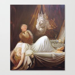 Donald Trump as incubus Canvas Print