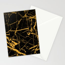Orange Marble - Abstract, textured, marble pattern Stationery Cards