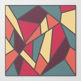 Geometric Colour Pattern V1 Canvas Print