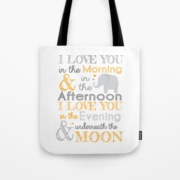 Elephant Nursery Poem - Orange Tote Bag