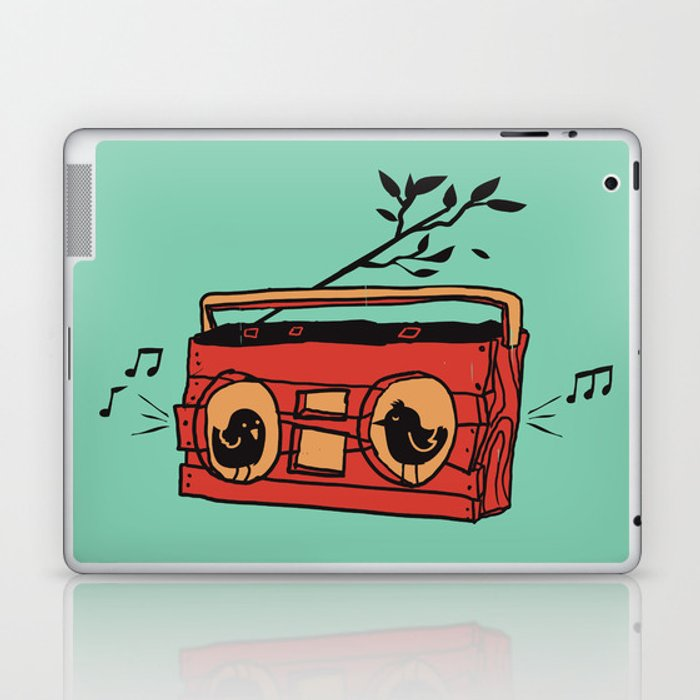 Nature's boombox Laptop & iPad Skin