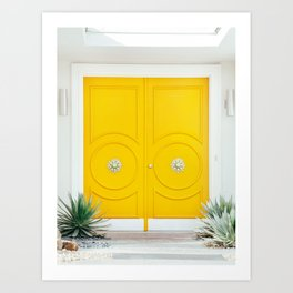 Yellow Door - Midcentury Modern Palm Springs Photography Art Print