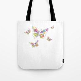 Pansexual Butterfly product Streetwear Graffiti Butterflies Tote Bag