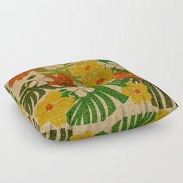 Limahuli Garden Hawaiian Floral Design Floor Pillow