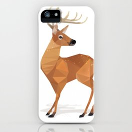 Low Poly White-tailed Deer iPhone Case