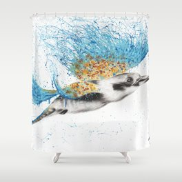 Clever Kookaburra Shower Curtain