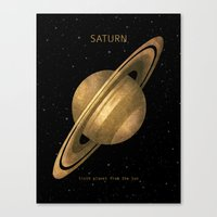 saturn Canvas Prints featuring Saturn by Terry Fan