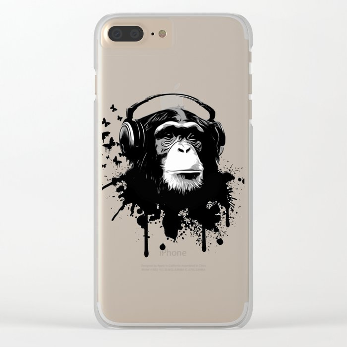 Monkey Business - Black Clear iPhone Case