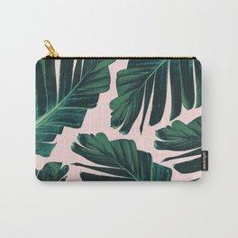 Tropical Blush Banana Leaves Dream #1 #decor #art #society6 Carry-All Pouch