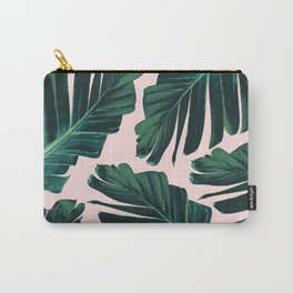 Tropical Blush Banana Leaves Dream #1 #decor #art #society6 Carry-All Pouch