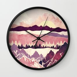 Burgundy Hills Wall Clock