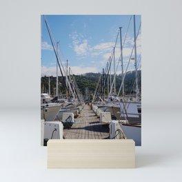 Boats in Harbor Mini Art Print