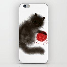 Mischievous cat iPhone Skin