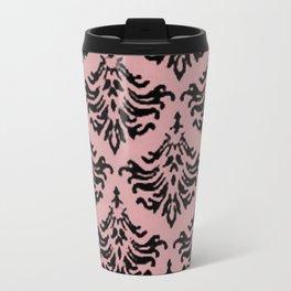Vintage Damask Brocade Bridal Rose Travel Mug