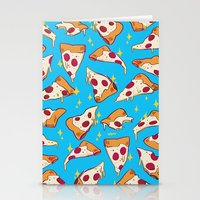 pizza Stationery Cards featuring pizza by Erin Lowe