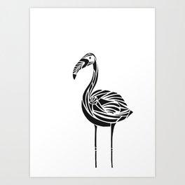 Urban Flamingo Art Print