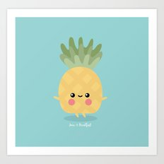 Kawaii Pineapple Art Print