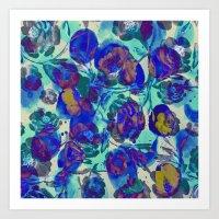 blueberry blooms Art Print