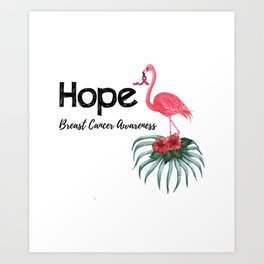 Flamingo Cancer Breast Cancer Awareness Gif Art Print