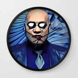 Morpheus Pill Red Blue Choice Hypnotic Presence Double Wall Clock