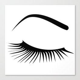 Closed Eyelashes Right Eye Canvas Print