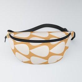 Plectrum Geometric Pattern in Ochre Mustard and Cream Fanny Pack