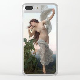Dawn by William Adolphe Bouguereau (Nude Art) Clear iPhone Case