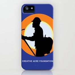 Creative Acre Foundation (CAF) Support poster iPhone Case