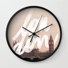 Brace yourselves, lots of London artwork are coming... Wall Clock