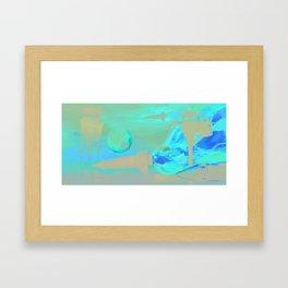 Space Rockets Framed Art Print