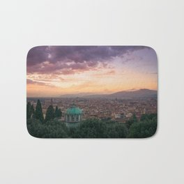 Sunset over Florence, Italy Bath Mat