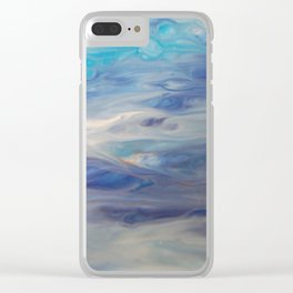 Ethereal Skies - Abstract Acrylic Art by Fluid Nature Clear iPhone Case