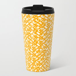 Control Your Game - White on Gold Metal Travel Mug