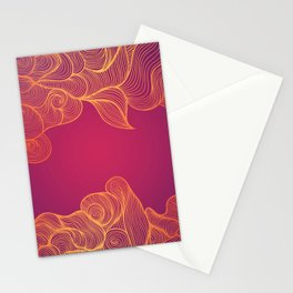 Heat Wave Abstract Waves Stationery Cards