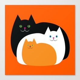 Halloween Cat Family Canvas Print