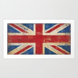 Union Jack UK England Flag British Art Print