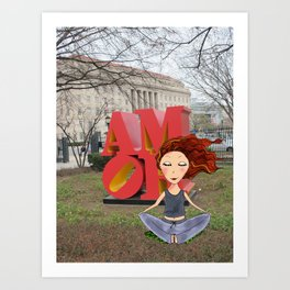 feel the love in DC | DCart Art Print