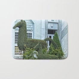 Horse and Foal Topiary Bath Mat