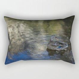 Mallard at Cathedral Beach Rectangular Pillow