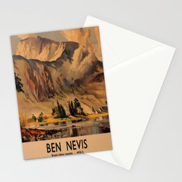 retro iconic Ben Nevis poster Stationery Cards
