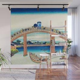 Tardis At The Bridge Wall Mural